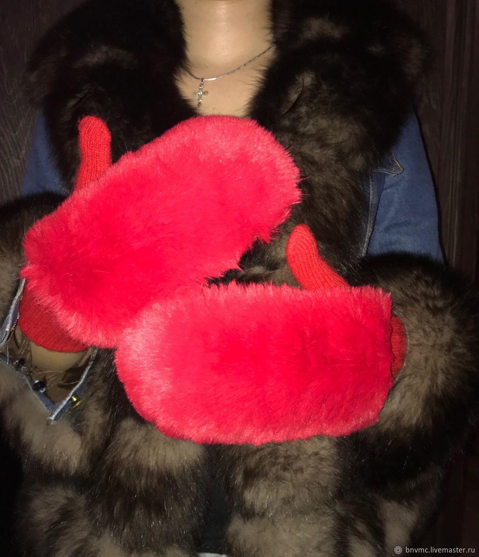 красные, Варежки, Гаджиево,  Фото №1