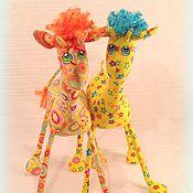 Куклы и игрушки ручной работы. Ярмарка Мастеров - ручная работа Жирафята  , детки жирафа :). Handmade.