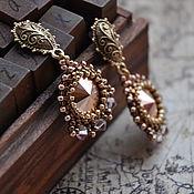 Украшения handmade. Livemaster - original item Bead earrings and Swarovski