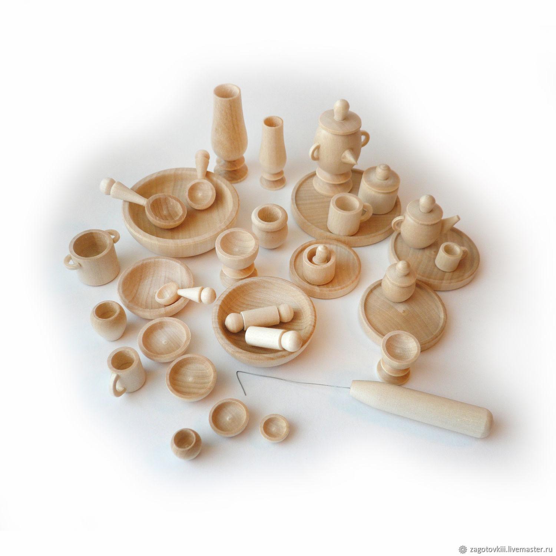 Набор кукольной посуды бирюльки, 34 предмета, Мягкие игрушки, Саров,  Фото №1