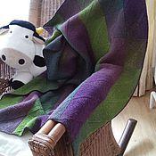 """Для дома и интерьера ручной работы. Ярмарка Мастеров - ручная работа Плед """"Баклажан и оливки"""". Handmade."""
