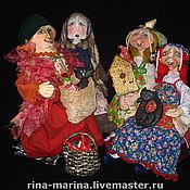 """Куклы и игрушки ручной работы. Ярмарка Мастеров - ручная работа кукольная композиция """"Ешкин год"""" . (посиделки Бабы Яги). Handmade."""
