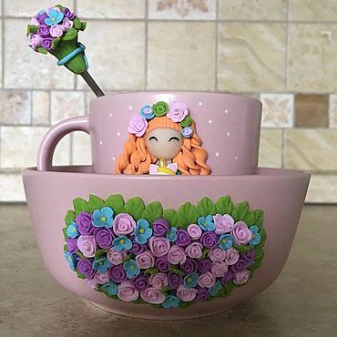 Посуда ручной работы. Ярмарка Мастеров - ручная работа Набор для девочки. Handmade.