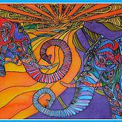 Картины и панно ручной работы. Ярмарка Мастеров - ручная работа любовь слонов. Handmade.