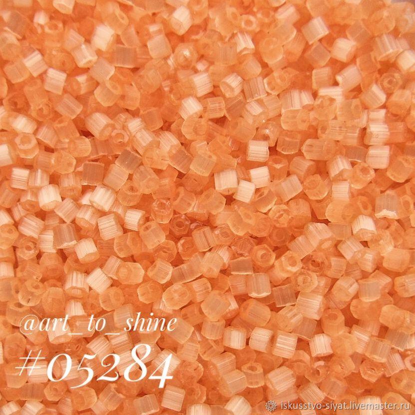 Сатиновая рубка Preciosa, Чехия, оранжевый лосось (05284), Бисер, Кострома,  Фото №1