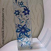 """Для дома и интерьера ручной работы. Ярмарка Мастеров - ручная работа Ваза """"Голубые цветы"""". Handmade."""