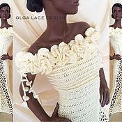 """Одежда ручной работы. Ярмарка Мастеров - ручная работа Вязаное платье """"Flowers"""" от Olga Lace. Handmade."""