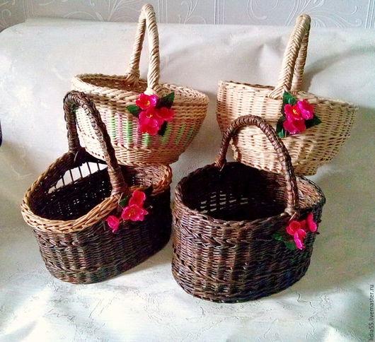 Корзины, коробы ручной работы. Ярмарка Мастеров - ручная работа. Купить корзинки  плетеные. Handmade. Бежевый, плетение, дача, лак