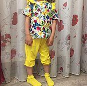 Одежда ручной работы. Ярмарка Мастеров - ручная работа Яркий трикотажный костюм для девочки !. Handmade.