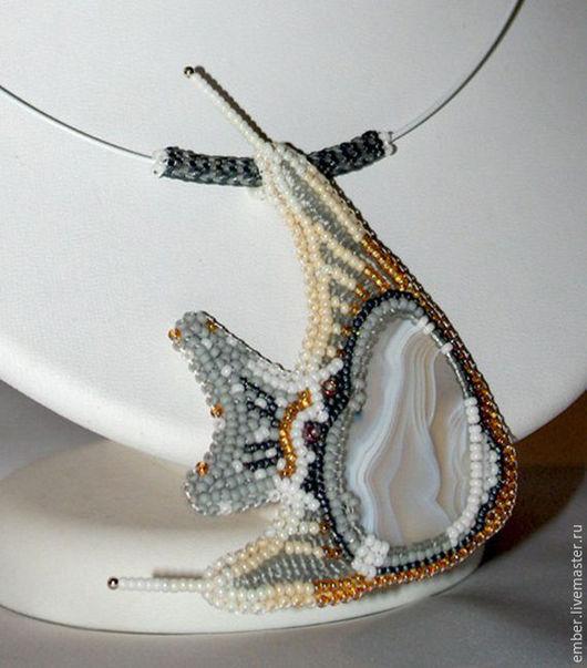 """Кулоны, подвески ручной работы. Ярмарка Мастеров - ручная работа. Купить Кулон """"Из созвездия рыб"""". Handmade. Серый"""