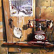 Дизайн и реклама ручной работы. Ярмарка Мастеров - ручная работа роспись стен в кухне - столовой - гостинной. Handmade.