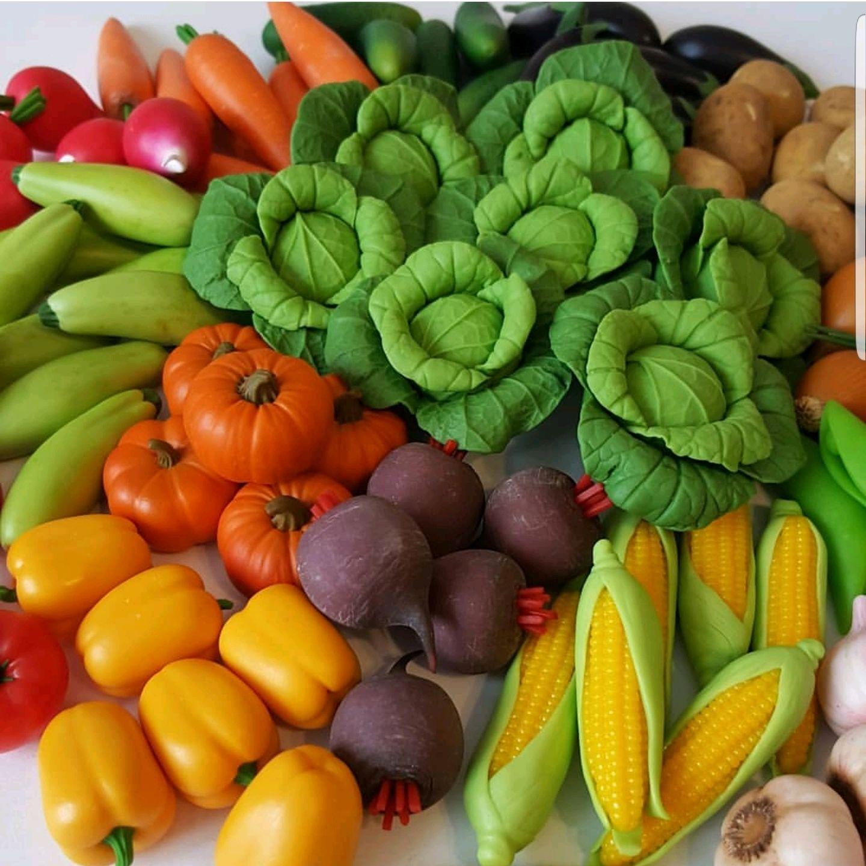 Овощи из полимерной глины, Кукольная еда, Ставрополь,  Фото №1