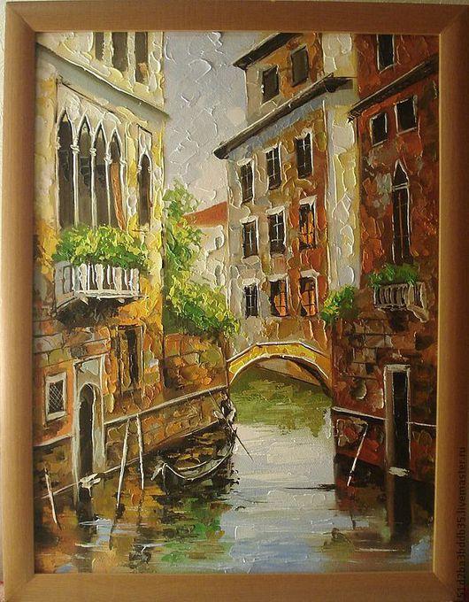 """Город ручной работы. Ярмарка Мастеров - ручная работа. Купить Картина маслом """"Венеция"""". Handmade. Картина, картина в подарок"""