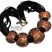 Украшения handmade. Livemaster - original item Necklace of polymer clay magic copper (389). Handmade.