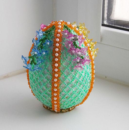 Подарки на Пасху ручной работы. Ярмарка Мастеров - ручная работа. Купить пасхальное яйцо  с цветами. Handmade. Подарок, необычный подарок