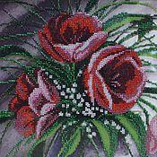 Картины и панно ручной работы. Ярмарка Мастеров - ручная работа Тюльпаны. Картина вышитая бисером.. Handmade.