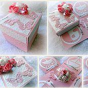 Свадебный салон ручной работы. Ярмарка Мастеров - ручная работа Свадебный денежный подарок в волшебной коробочке. Handmade.
