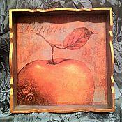 """Для дома и интерьера ручной работы. Ярмарка Мастеров - ручная работа Поднос """"Золотое яблоко"""". Handmade."""