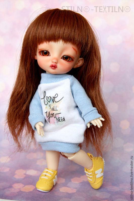 Одежда для кукол ручной работы. Ярмарка Мастеров - ручная работа. Купить Платье-свитшот для куклы 1/8 lati, pukifee, irrealdoll, luts. Handmade.