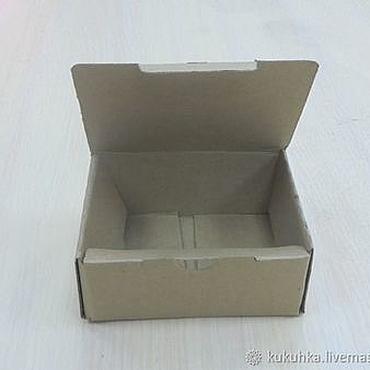 Материалы для творчества ручной работы. Ярмарка Мастеров - ручная работа Коробка самосборная, 120х90х55 мм. Handmade.