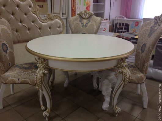 Мебель ручной работы. Ярмарка Мастеров - ручная работа. Купить к английским креслам. Handmade. Золотой, кожа, краски акриловые