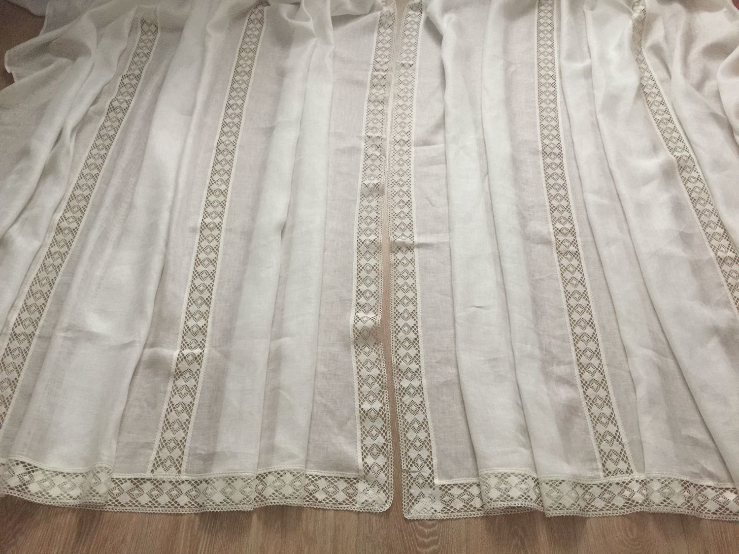Tulle linen 'Air by using hemstitch' width 4,6 m, Curtains1, Ivanovo,  Фото №1