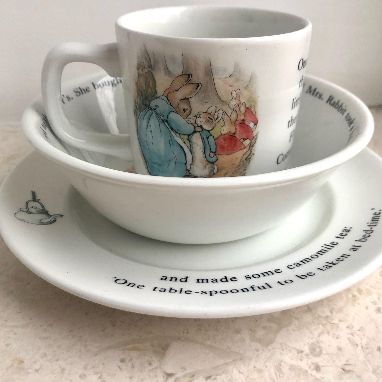 Винтаж: Набор посуды для детей «Кролик Питер», Кухонная утварь винтажная, Москва,  Фото №1