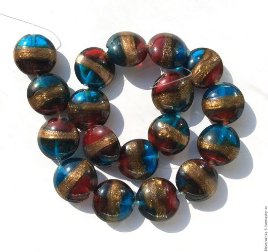 Для украшений ручной работы. Ярмарка Мастеров - ручная работа. Купить Лэмпворк 20 мм разноцветные гладкие бусины для украшений. Handmade.