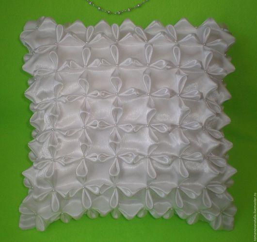 Текстиль, ковры ручной работы. Ярмарка Мастеров - ручная работа. Купить Подушка интерьерная. Handmade. Белый, декоративная подушка