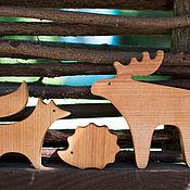 Мягкие игрушки ручной работы. Ярмарка Мастеров - ручная работа Набор Лесные звери. Handmade.
