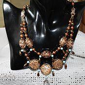 Украшения handmade. Livemaster - original item Necklace with Japanese beads tensha Arabesque. Handmade.