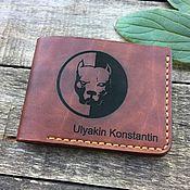 Кошельки ручной работы. Ярмарка Мастеров - ручная работа Мужской кошелёк, табачно-коричневый. Handmade.