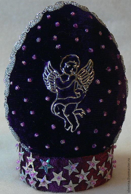 """Подарки на Пасху ручной работы. Ярмарка Мастеров - ручная работа. Купить Яйцо пасхальное """"Ангел"""". Handmade. Сиреневый, подарок на Пасху"""