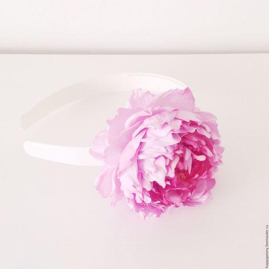 """Диадемы, обручи ручной работы. Ярмарка Мастеров - ручная работа. Купить Обруч Пион """" Воспоминание"""". Handmade. Розовый"""