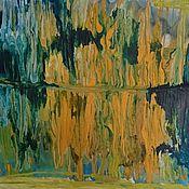 """Картины и панно ручной работы. Ярмарка Мастеров - ручная работа Картина """"Краски осеннего леса"""", авторская абстракция. картина осень. Handmade."""