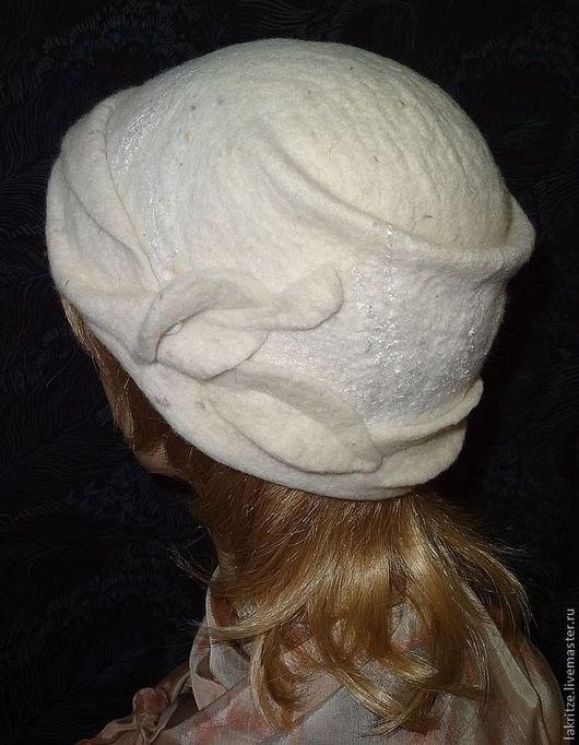 """Шляпы ручной работы. Ярмарка Мастеров - ручная работа. Купить Шляпка - трансформер """"Белый цветок"""".. Handmade. Белый, фурнитура"""