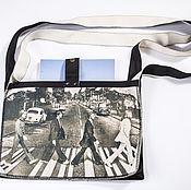 Сумки и аксессуары ручной работы. Ярмарка Мастеров - ручная работа сумка минималистична с принтом BEATLES. Handmade.