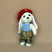 Куклы и игрушки ручной работы. Ярмарка Мастеров - ручная работа Зайчик Лёнчик. Handmade.