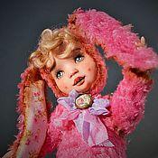 Куклы и игрушки ручной работы. Ярмарка Мастеров - ручная работа Нюточка тедди-долл. Handmade.
