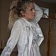 """Блузки ручной работы. Ярмарка Мастеров - ручная работа. Купить Блуза шелк, капля шерсти """"Сухоцветы"""". Handmade. Ажурная блуза"""