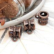 Материалы для творчества handmade. Livemaster - original item Bail for pendants, pendants on Copper (Ref. 1463). Handmade.