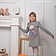 Одежда для девочек, ручной работы. Ярмарка Мастеров - ручная работа. Купить Платье войлочное детское Дашенька. Handmade. Матрешка