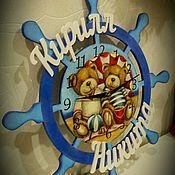 Для дома и интерьера ручной работы. Ярмарка Мастеров - ручная работа Часы именные для мальчика. Handmade.