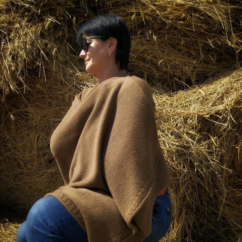 Шарф палантин из пуха монгольского верблюжонка 100% от Sarlag, Палантины, Октябрьский,  Фото №1