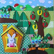"Куклы и игрушки handmade. Livemaster - original item Educational panels ""In the country with the Rabbit"". Handmade."