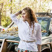 Одежда ручной работы. Ярмарка Мастеров - ручная работа Новинка - Белая хлопковая блузка. Handmade.