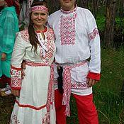 Одежда ручной работы. Ярмарка Мастеров - ручная работа русский свадебный комплект. Handmade.