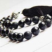 Фен-шуй и эзотерика handmade. Livemaster - original item Rosary 27kamney of black tourmaline. Handmade.
