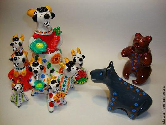 Сувениры ручной работы. Ярмарка Мастеров - ручная работа. Купить Коза и семеро козлят. Handmade. Коза, сказка