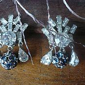Винтаж ручной работы. Ярмарка Мастеров - ручная работа Клипсы, винтаж, кристаллы / металл, Австрия, Чехия. Handmade.